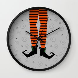 Witch Legs Wall Clock