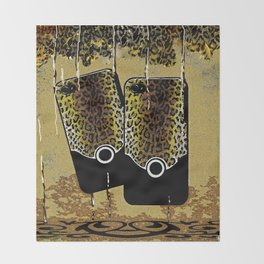 Anima Print Cell Phone Art Living Life on the Wild Side Throw Blanket