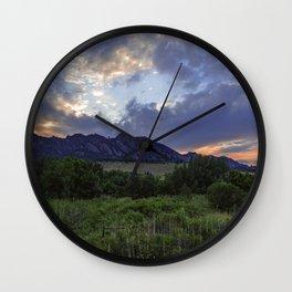 South Boulder Sunset Vista Wall Clock