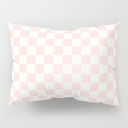 Blush Pink Coral Checkers Pillow Sham