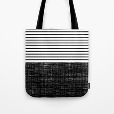 platno (black stripes) Tote Bag