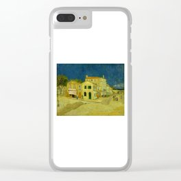 Vincent Van Gogh - The Yellow House Clear iPhone Case