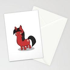 My small sized satanic duplicorn horse Stationery Cards