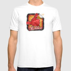 Tickles White Mens Fitted Tee MEDIUM