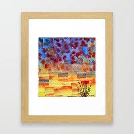 Dawn never waits Framed Art Print