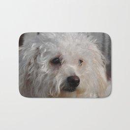 White Puppy Bath Mat