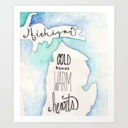 A Michigan winter Art Print
