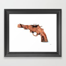 Sex Pistol Collage Framed Art Print