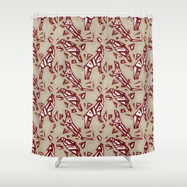 Spirit Animals Desert - Coyote - Raven - Lizard Shower Curtain