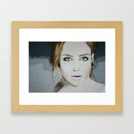 Anna April Portrait Framed Art Print