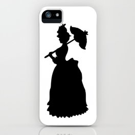 Victorian Woman - black & white - Woman in a Dressing Gown iPhone Case