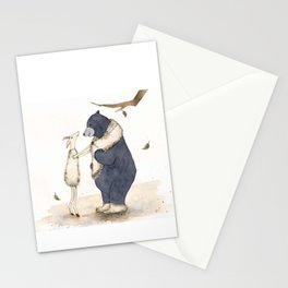 Winter gift for Bear Stationery Cards