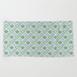 Echeveria pattern Beach Towel