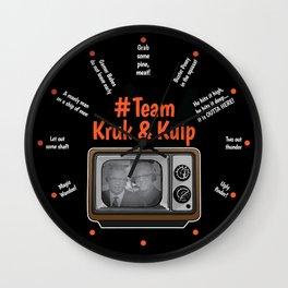 Team Kruk & Kuip Wall Clock