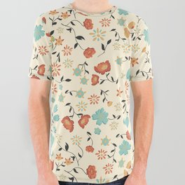 Summer Flower All Over Graphic Tee
