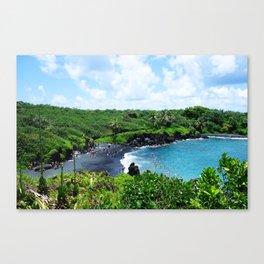 Black Sand Beach, Maui Canvas Print