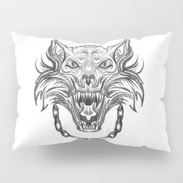 Norse Wolf Monster Fenrir Pillow Sham