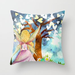 Fairy Tale Dreams Throw Pillow