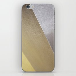 Minimalist Geometric Abstract Photography Silver Gold Industrial Cast Iron and Champaign iPhone Skin