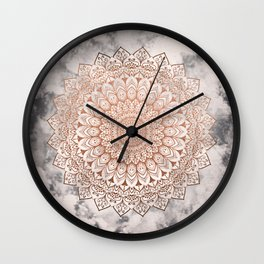 ROSE NIGHT MANDALA Wall Clock