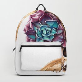 Blooming skull Backpack