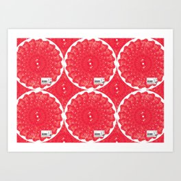 Shabu-Shabu Finland (pattern)- MimeticMaps Art Print