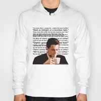 dale cooper Hoodies featuring Agent Cooper - coffee quotes  by Alessandro Paradossi