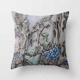 Mystical Woods Throw Pillow