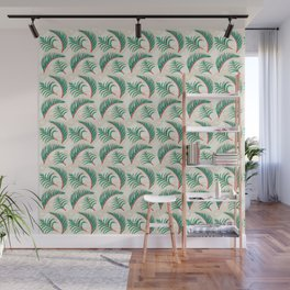 Take me to Paradise Forest Leaves - Cream Wall Mural