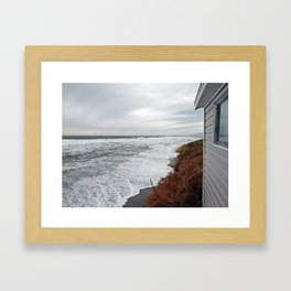 Land and Sea and the line Between Framed Art Print