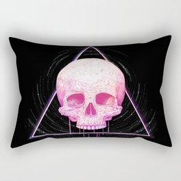 Skull in triangle on black Rectangular Pillow