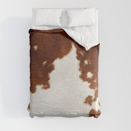 brown cowhide watercolor Comforters