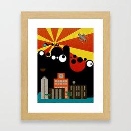 Black Blob Attack Framed Art Print