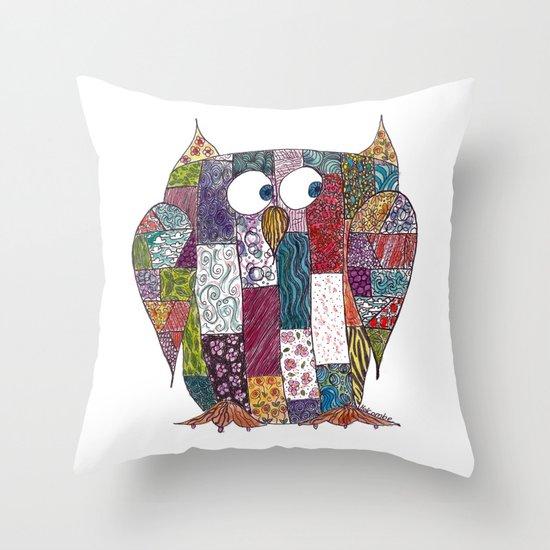 Logcabin Owl Throw Pillow