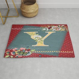 Country Charm Monogramed Y Rug