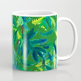 Cactus Abstract With Background Coffee Mug