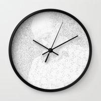 hunter s thompson Wall Clocks featuring [De]generated ArcFace - Hunter S. Thompson by ⊙ Paolo Tonon