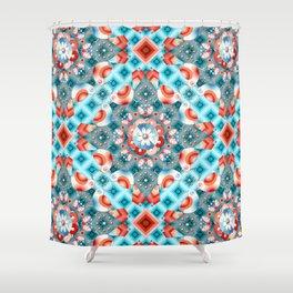 Decorative Lovebirds Shower Curtain
