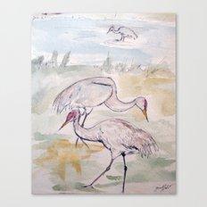Heron Sketch #1 Canvas Print