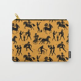 Greek Figures // Orange Carry-All Pouch