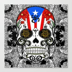 Rican Sugar Skull Canvas Print