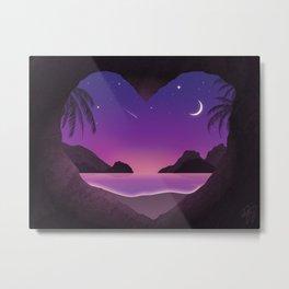 Heart Cave Beach Metal Print