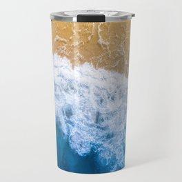 Frothy Blue Shore  Travel Mug