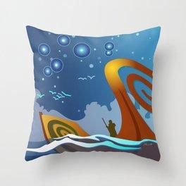 Night Voyage Throw Pillow