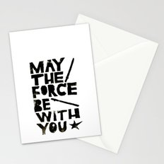 May the Force be with You - Linocut Star Wars Movie Poster Stationery Cards