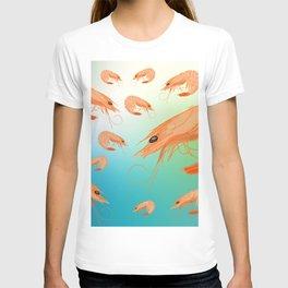 Shrimp underwater T-shirt
