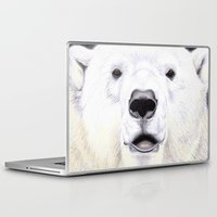 polar bear Laptop & iPad Skins featuring Polar Bear by StudioBlueRoom