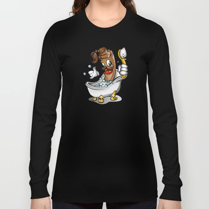 rug bathing in the tub Long Sleeve T-shirt