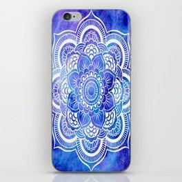 Mandala Blue Lavender Galaxy iPhone Skin