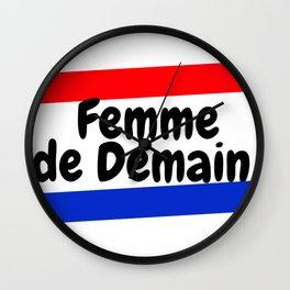 "Femme de Demain - ""A woman of the Future"" Wall Clock"